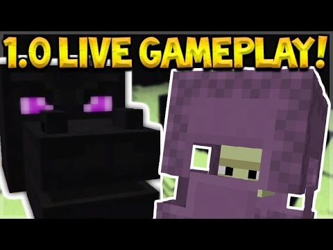 LIVE 1.0 GAMEPLAY!! Minecraft Pocket Edition 1.0 - New Features, End, Wings (Pocket Edition)