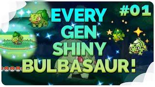 Every Generation Shiny Bulbasaur! ✨ Shiny Pokemon Throughout The Generations! ✨