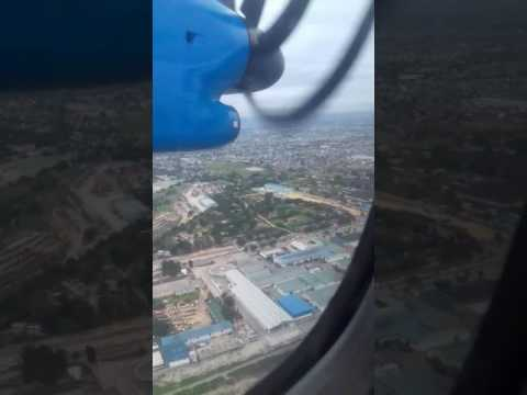 Q400 final and Landing at J.K Nyerere International