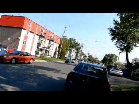 WALKING RUE MANCE STREET IN ST HUBERT QUEBEC