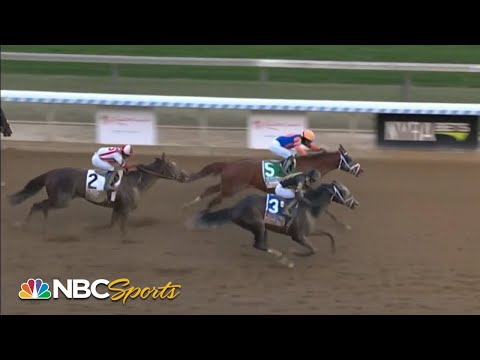 Wood Memorial 2021 ends with biggest upset in race history (FULL RACE)   NBC Sports