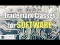 Trademark Classes for Software