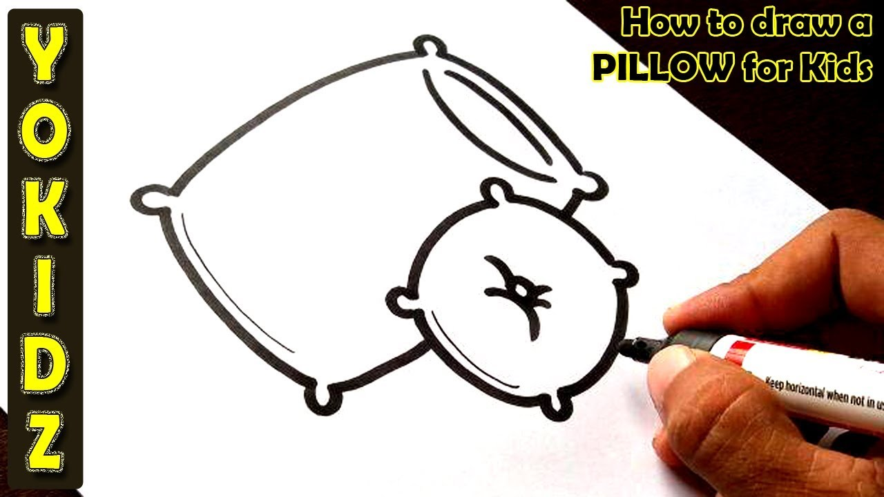 How to draw a PILLOW for kids - YouTube
