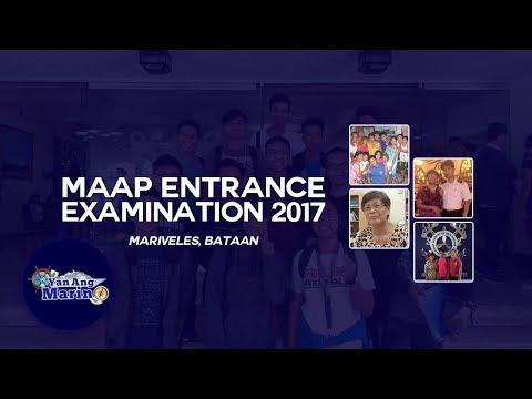 Yan Ang Marino - MAAP Entrance Examination (Mariveles, Bataan)