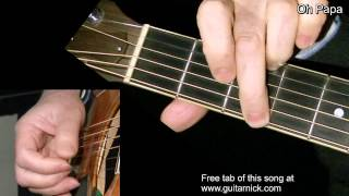 Oh Papa - fingerpicking guitar + TAB! Learn to play, by Elizabeth Cotten