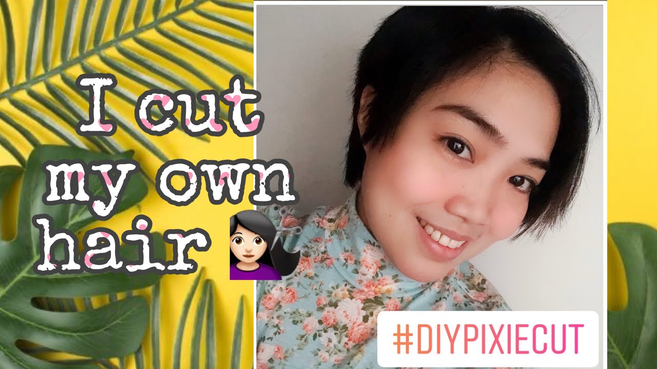 Diy Pixie Cut How I Cut My Hair Pixie For The First Time