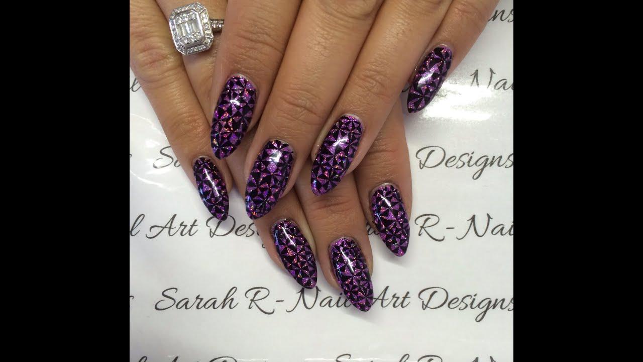 Stamping Fun Friday Geometric Rockstar Nails Drk Xl Designer 2