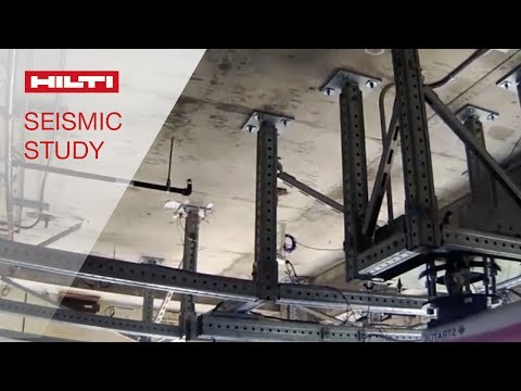 WATCH as Hilti participates in landmark seismic and fire research project at UCSD NEES facility