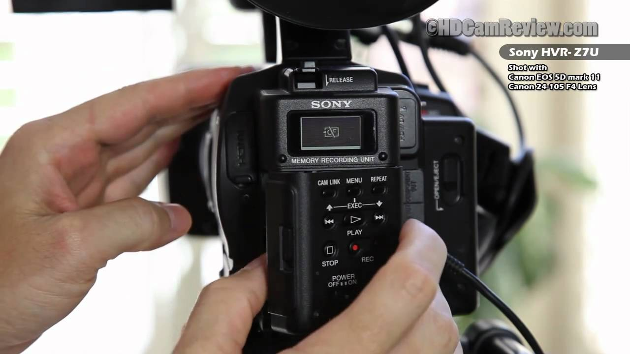sony hvr z7u walkthrough of all controls youtube rh youtube com sony hvr-z7u manual Sony Z7U Prime Lens