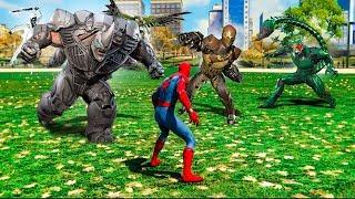 Spiderman vs. 6 Villain Bosses in Spiderman PS4