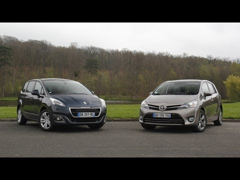 comparatif peugeot 5008 vs toyota verso youtube. Black Bedroom Furniture Sets. Home Design Ideas