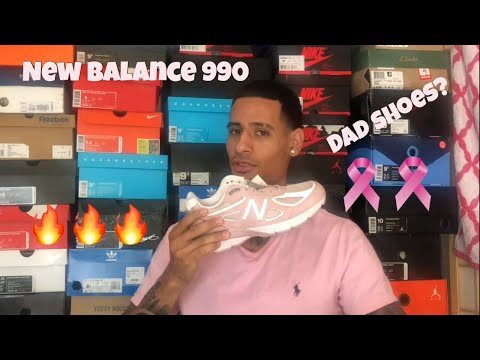"""NEW BALANCE 990 V4 """"Lace for a Cure"""" Sneaker Review"""
