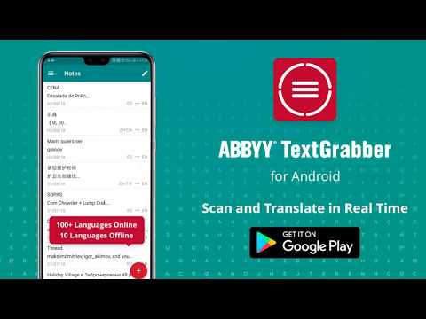 TextGrabber Android with Real-Time Translation: 100+ languages online and 10 offline