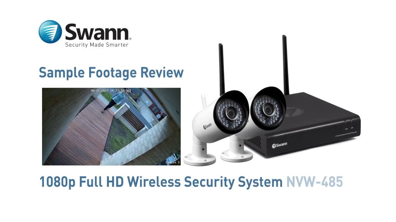 Swann 1080p Wireless Security System sample CCTV footage review NVW