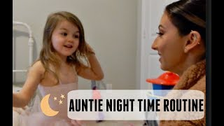 SOLO AUNTIE NIGHT TIME ROUTINE WITH A TODDLER | Hillary Alex