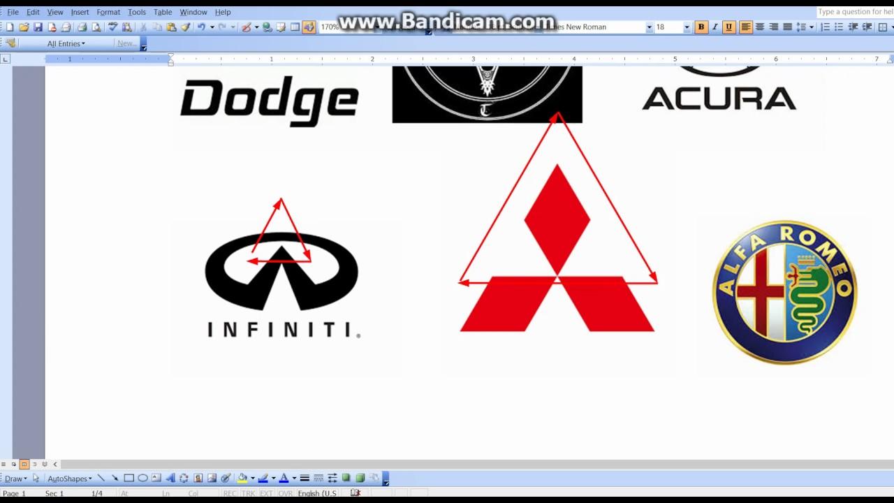 Satanic 666 Illuminati Car Logos Youtube