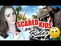 AMUSEMENT PARKS WITH KIDS! | How to Keep Kids Calm on Theme Park Rides | NO SCARED KIDS ALLOWED! 😫