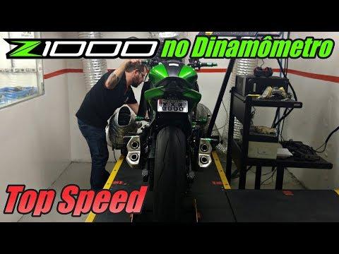 Z1000 No Dinamômetro - Potência Máxima + Top Speed