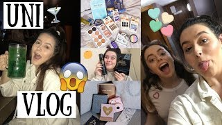 UNI VLOG | food shop haul, spontaneous night out + reaching our GOAL!!!