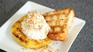 Grilled Pineapple & Angel Food Cake Recipe