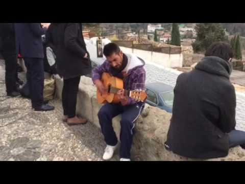 Musica Gitana Em Praça De Granada Espanha Youtube