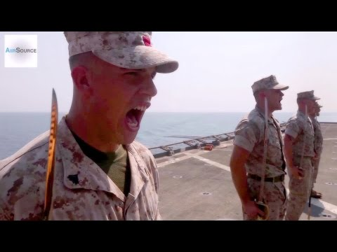 U.S. Marines Corporals Course - Sword And Guidon Drill Movements