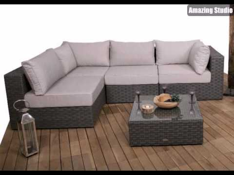 polyrattan loungem bel f r drau en youtube. Black Bedroom Furniture Sets. Home Design Ideas