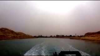 مشهد رائع لمدينة الاسماعيلية من قناة السويس الجديدة