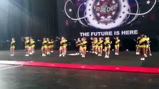 Northampton Stallions Co ed level 2 - Future Cheer University Nationals 2015 close up