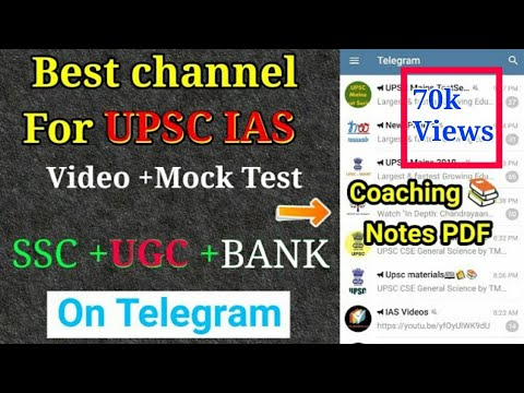 Best channel ओर Groups on Telegram | for UPSC IAS, PCS,SSC,UGC