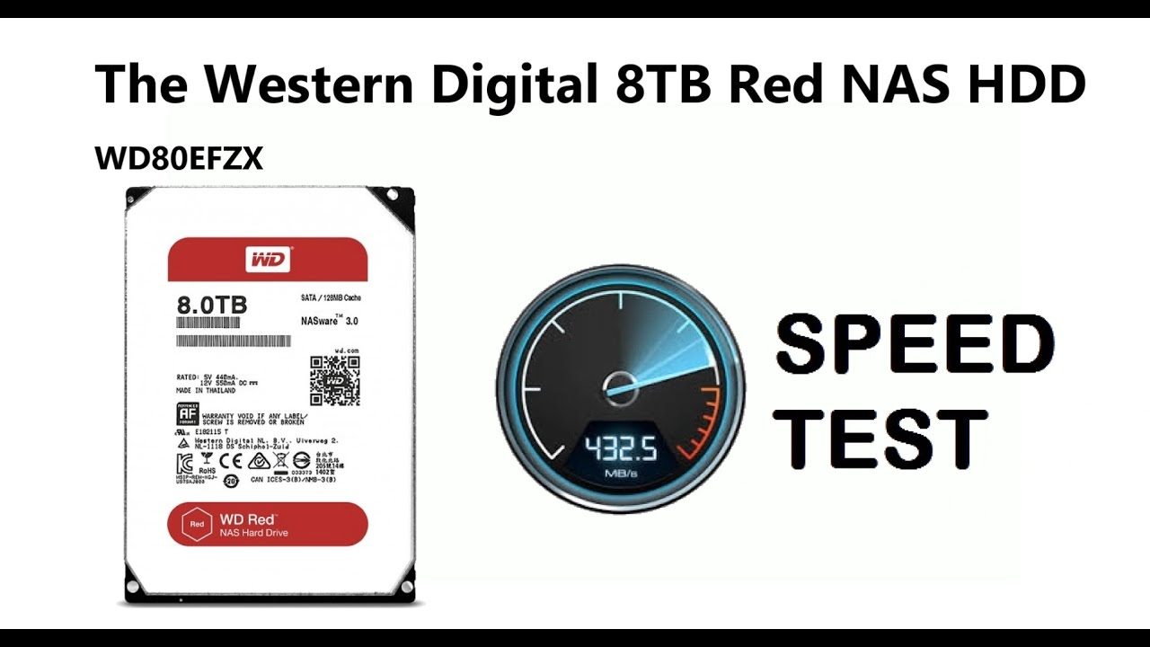 The Western Digital Red 8TB NAS Drive Speed Test with Black Magic - WD80EFRX