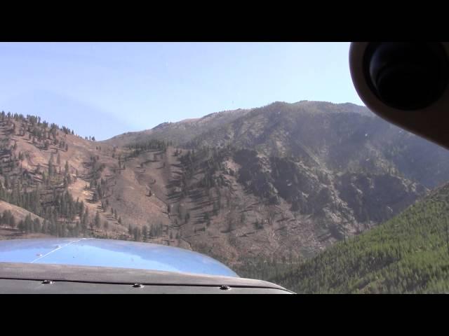 Idaho Backcountry Flying, Indian Creek takeoff, Bob and Neil