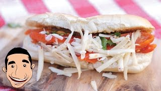 Italian Hot Dog   Sausage And Peppers Sandwich