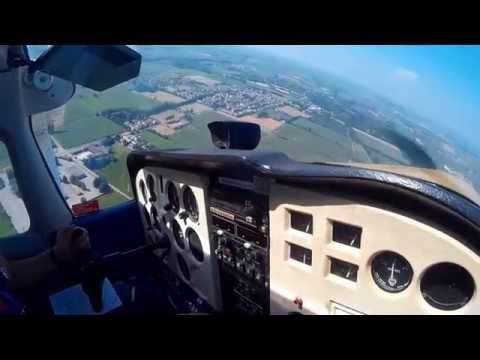 Aero Club Milano C172 I-MILB Bresso to Cremona with ATC