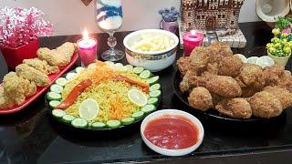 الطريقه السريه لعمل دجاج كنتاكي بأقل تكلفه مع الرز البسمتي المُبهروصفات من مطبخ اميرة