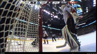 ilya bryzgalov cannot find the puck