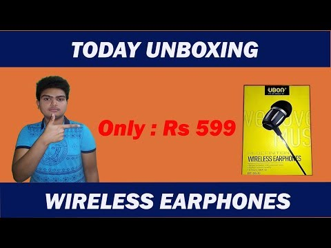 TODAY UNBOXING THIS  UBON WIRELESS EARPHONES BT-3530 ONLY RS 599 [BENGALI]
