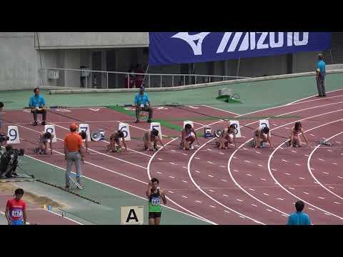 Nat'l Corp Champ2017 Women's100m Final Chiaki NAGURA11.65(+0.1) 名倉千晃 青木益未 市川華菜