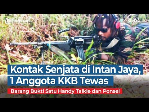 Seorang Anggota KKB Tewas Tertembak TNI Saat Kontak Senjata Di Distrik Titigi, Intan Jaya, Papua
