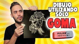 EL RETO DE DIBUJAR SOLO CON GOMA | The Eraser ONLY Art CHALLENGE!