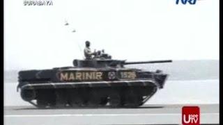 Atraksi Tank BMP3F Marinir TNI AL HUT Ke 69 Tahun 2014