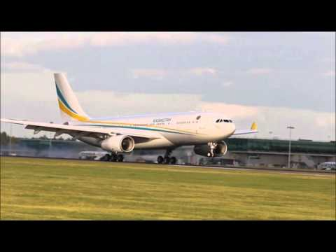 Kazakhstan Government Airbus A330 arriving at Stansted 25 09 2015