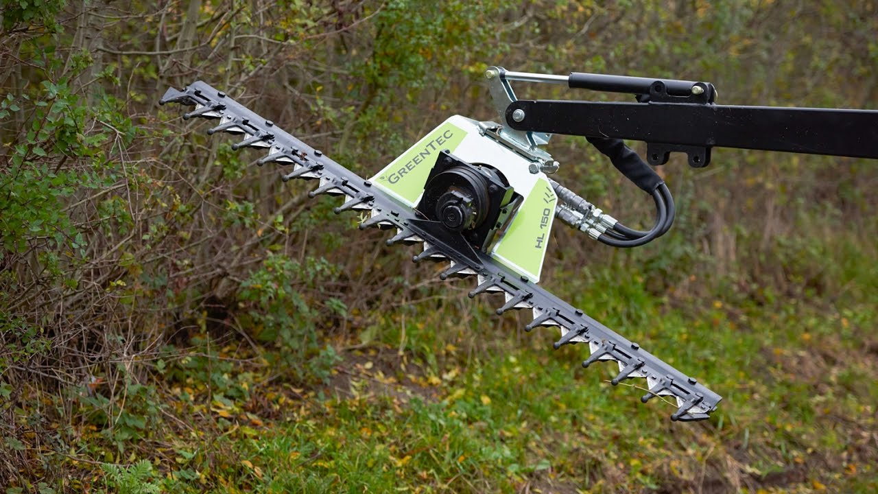 Hedge cutter for tractor and loader | GreenTec HL 150 - 240 (EN)