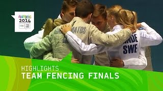 Asia/Oceania Win Mixed Continental Team Fencing Gold - Highlights | Nanjing 2014 Youth Olympic Games