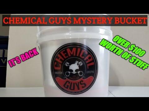 Chemical Guys Mystery Bucket is back. Chemical Guys Mystery box / bucket