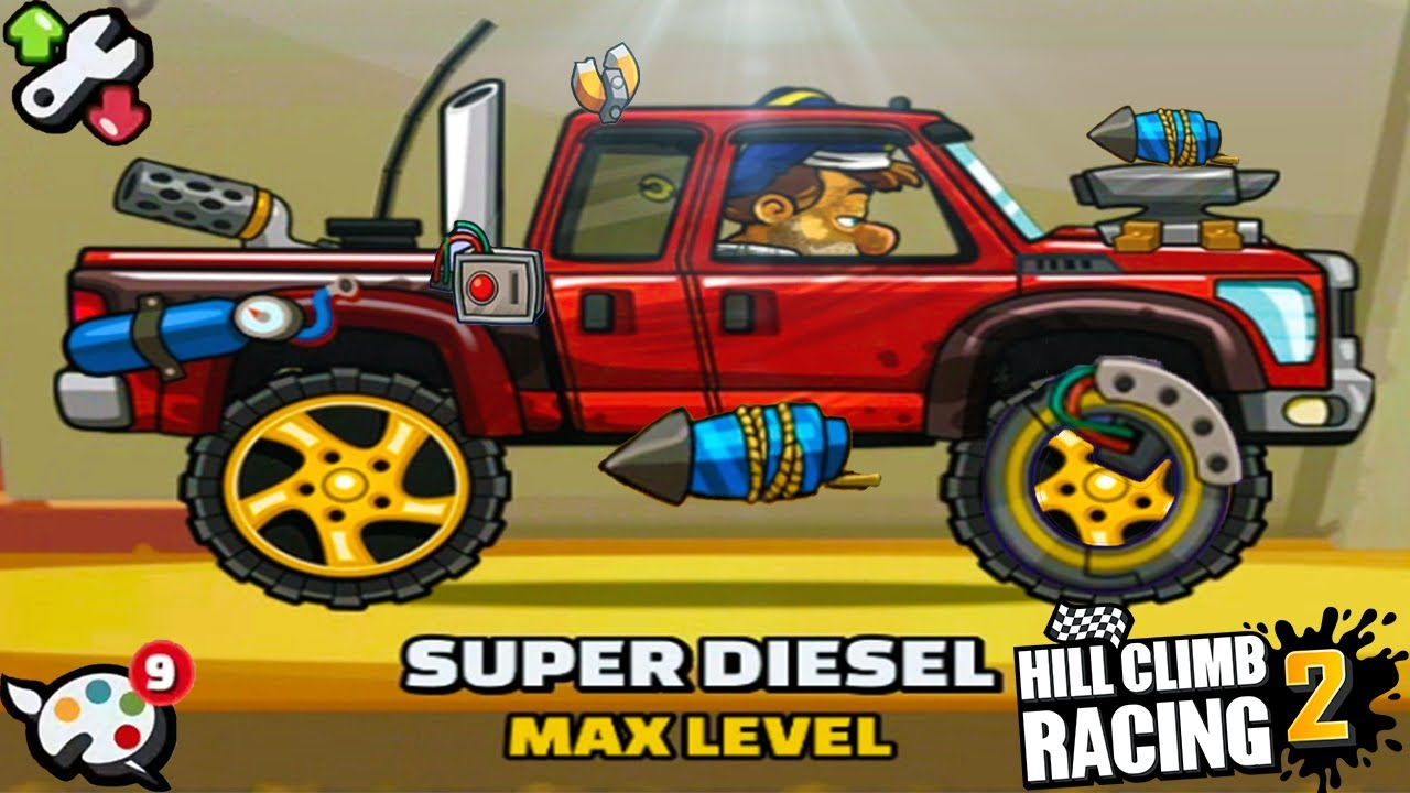 New Update Hill Climb Racing 2 - Super Diesel Tunning Parts
