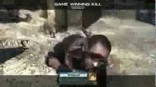Most AMAZING Throwing Knife Kill Ever!!! MW2