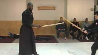 NINJUTSU BUKI DORI RANDORI DEFENSE JO AGAINST BOKKEN ATTACKS