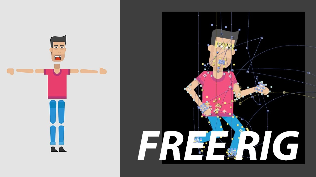 Character Animation Rig - Free download | After Effects