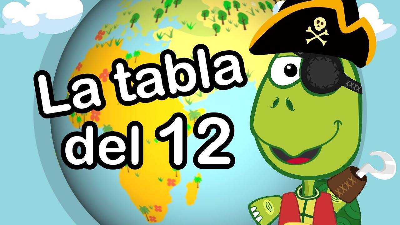 TABLA DEL 12 CANTADA - Canciones Infantiles - Aprende a